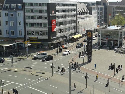 kfz gutachter bielefeld, Unfallschwerpunkt Jahnplatz