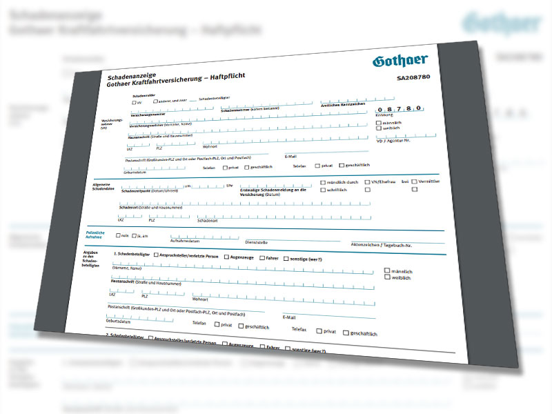 Kfz Schadensmeldung Gothaer Versicherung Ihr Gutachten Com