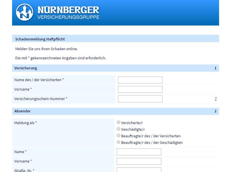 schadensmeldung-online-nürnberger