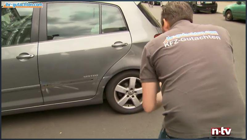 Gutachtenaufnahme - n-tv Bericht Kfz Sachverständiger Altkrüger