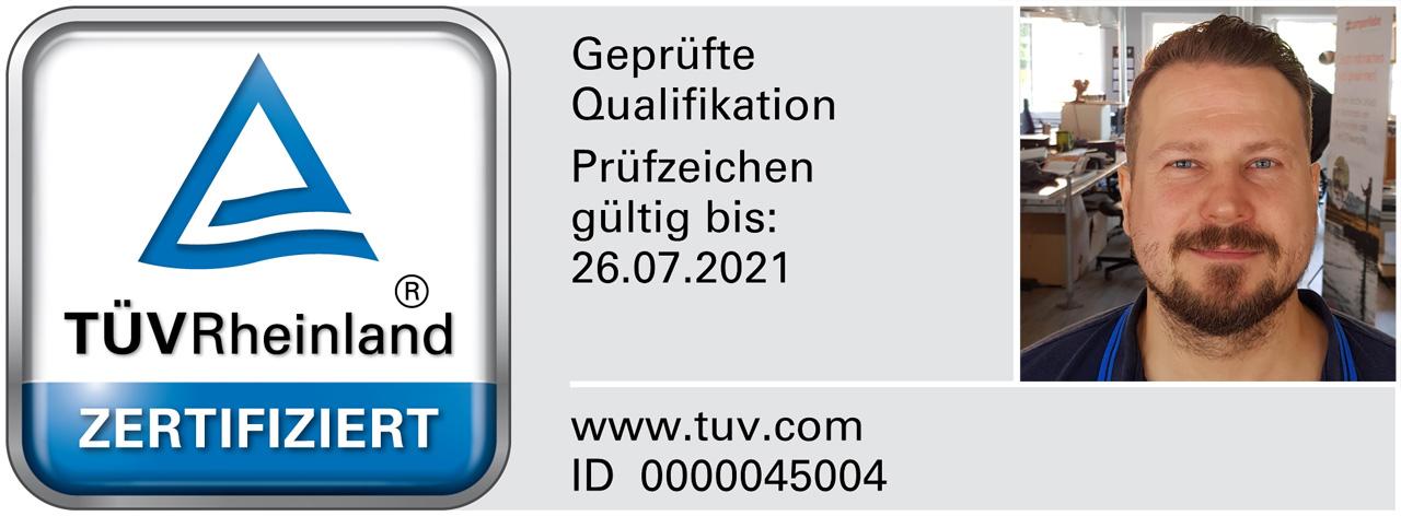 TÜV zertifizierte Gutachter